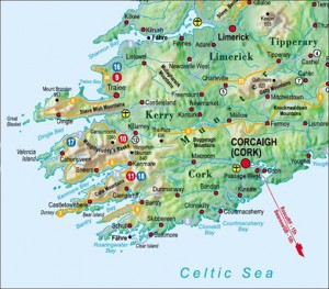 Karte Irland Südwesten
